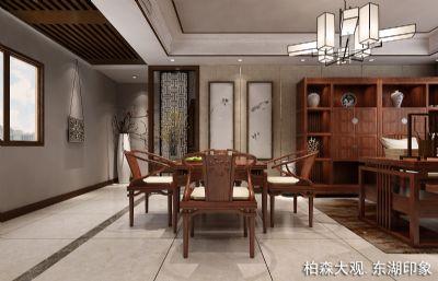 新中式茶室,茶馆休息室(网盘下载)