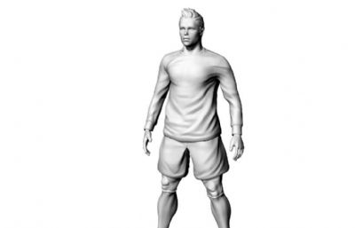c�_足球明星3D打印STL模型