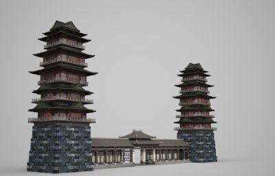 古建筑特色�p子�欠抗潘�3D模型