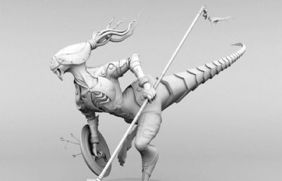 �恐��外型入侵�鹗�,盾兵,��兵maya模型
