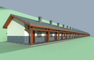 现代农村集中猪圈3D模型