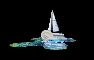 海洋风格系列展位