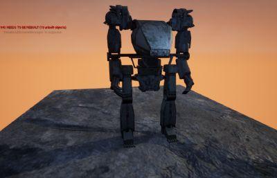 简单机器人,战争机器人FBX模型