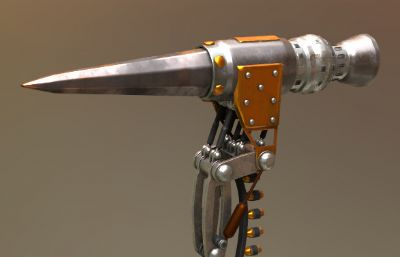 火箭锤max模型,《阿丽塔:战斗天使》电影道具