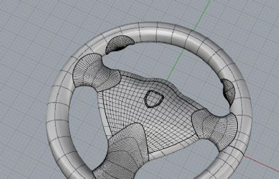 方向盘-犀牛建模3DM模型