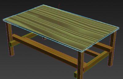 简单的实木茶几桌子max模型