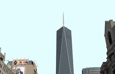新世贸大厦纽约城街景max精模
