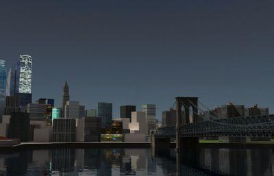 纽约布鲁克林大桥max模型,全网唯一