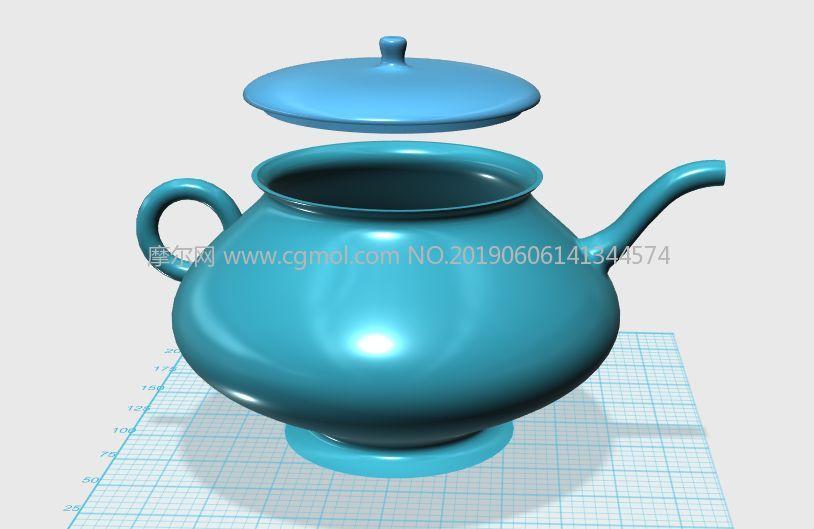 水壶茶壶STL模型