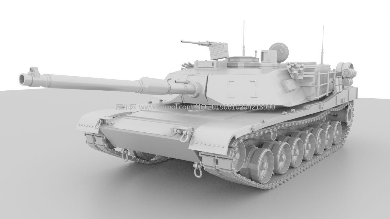 M国M1A2主战坦克maya建模