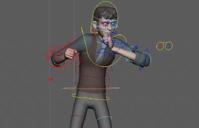 Jack杰克,�Ы�定和�υ��R架肢�w�幼�Maya模型源文件