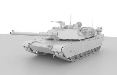 M國M1A2主戰坦克maya建模