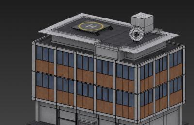 带停机坪的简单办公楼