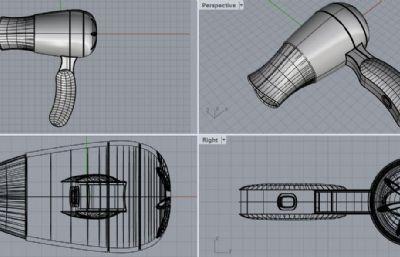 家用吹风机3DM模型
