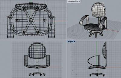 旋�D椅子,�k公椅子3DM模型