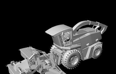 拖拉机,整平机,犀牛高精度模型
