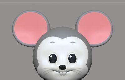 萌萌的可��Q版老鼠ZPR模型