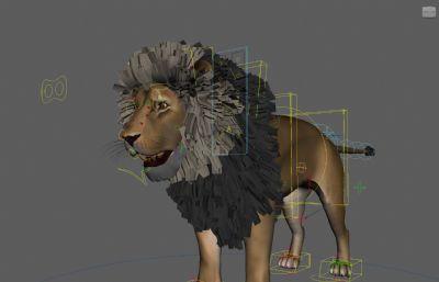 Tobias Lion�{子maya模型,�Ы�定有�N�D