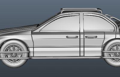 四驅賽車外殼Maya模型,無內部結構