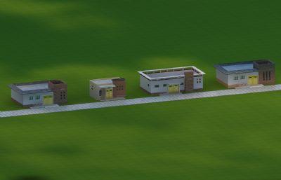 25个现代公共厕所卫生间Max模型,丢失一张大门贴图