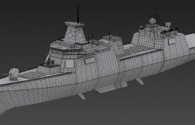 055重型驱逐舰max模型