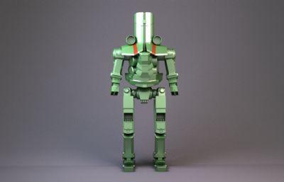 自制环太平洋机甲maya模型,带材质,无贴图