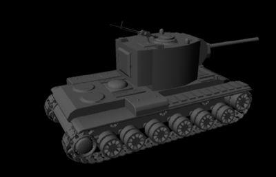俄罗斯KV-2坦克maya模型
