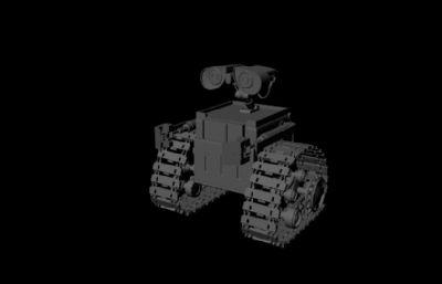 瓦力机器人maya简模