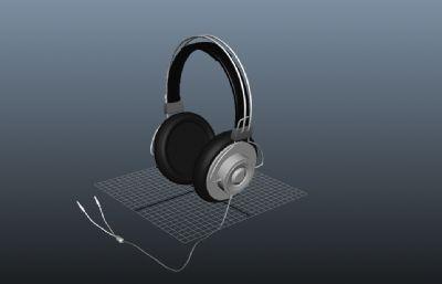 耳机简单模型maya模型