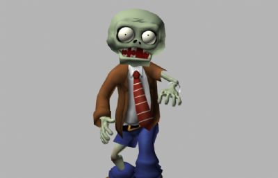 小僵尸MAX,FBX模型,包括走路动画