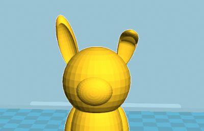 卡通可爱兔子STL模型