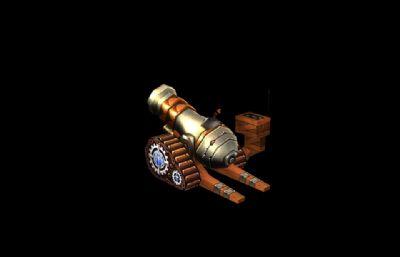 古代手�LQ版大炮max模型