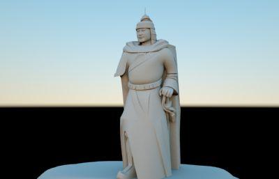 �成功英雄雕塑模型,石�^雕塑(�群�C4D,fbx,maya格式)