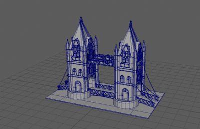 泰晤士桥maya模型