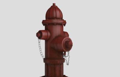 消防栓3D模型,�Ц吣:偷湍�,�зN�D