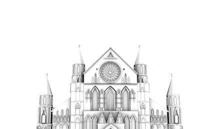 中世�o�W洲大教堂maya模型