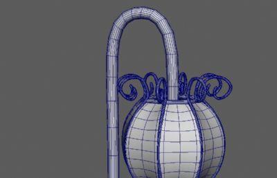 卡通灯笼,落地灯笼maya模型