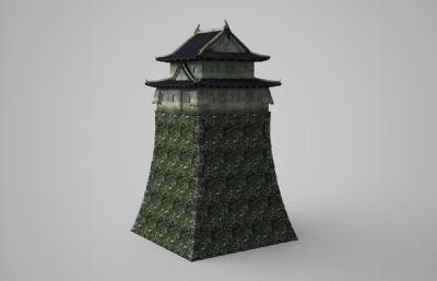 古建筑特色�T��3D模型
