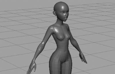 �w���逝�性人�wOBJ模型