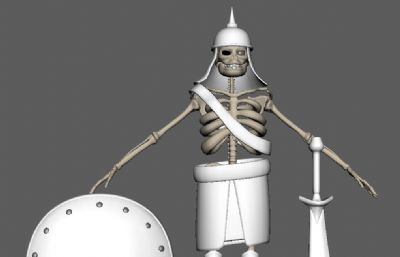 卡通�У逗投艿镊俭t步兵maya模型