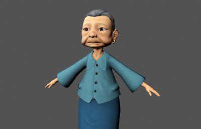 中��金耳�h老奶奶Maya模型