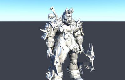 �p板斧�F人怪物maya模型