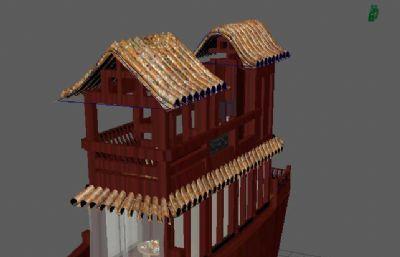 古�L游船餐�dMaya模型