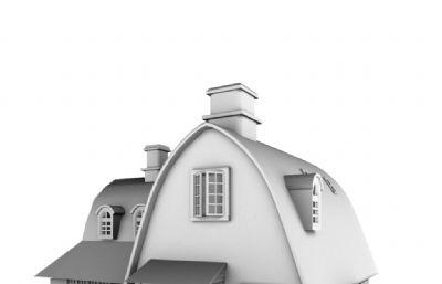 �m崎�E魔女宅急便里琪琪的房子maya模型