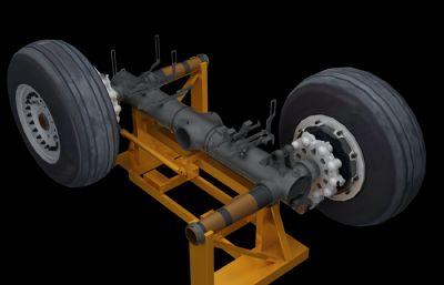 民航客�C�w�C起落架3D模型,1:1仿真