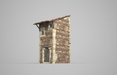 古代特色碉楼房子3D模型
