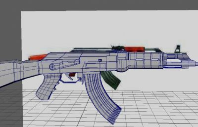 AK47��OBJ模型,maya 建模
