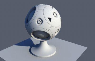 ��渲染用的材� 球OBJ模型