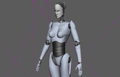 女�C器人Maya模型