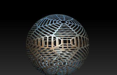 �U空球雕塑�O�OBJ模型